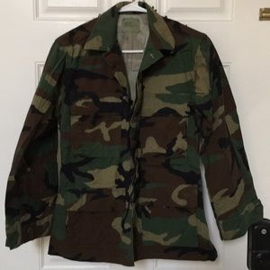 Authentic Army Fatigue Camo Jacket XS-Short